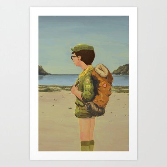 Scouting Art Print