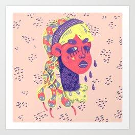 Angry medusa Art Print