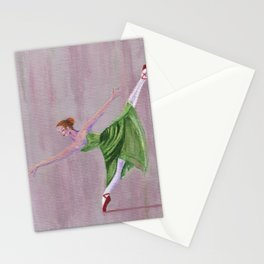 Green Ballerina Stationery Cards