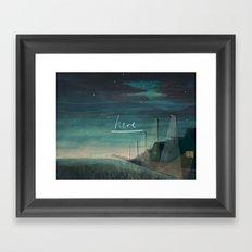 H e r e Framed Art Print