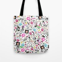 hollywood Tote Bags featuring Hollywood by LuxuryLivingNYC