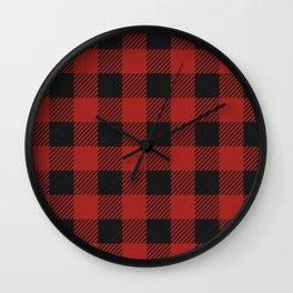 Buffalo Check Plaid Wall Clock