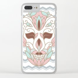 SKULL IN PASTELS Clear iPhone Case
