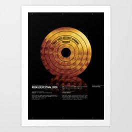 Roskilde Festival poster Art Print