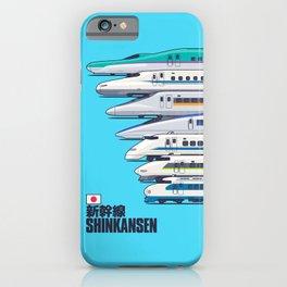 Shinkansen Bullet Train Evolution - Cyan iPhone Case