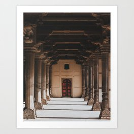 Temple Halls Art Print