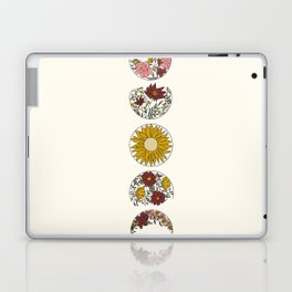 Floral Phases of the Moon Laptop & iPad Skin