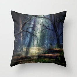 Fantasy Forest 2 Throw Pillow