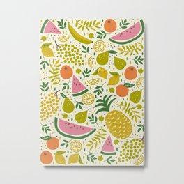 Fruit Mix Metal Print