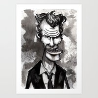 tom waits Art Prints featuring Tom Waits by Grant Hunter