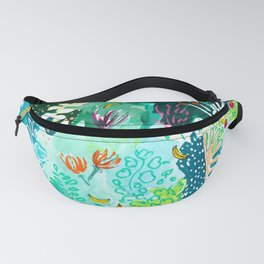 Twice Last Wednesday: Abstract Jungle Botanical Painting Fanny Pack