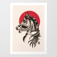 grimm horse Art Print