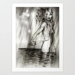 Knife In The Water Art Print