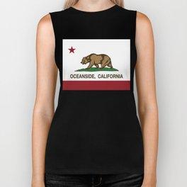 Oceanside California Republic Flag  Biker Tank