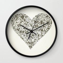 Art heart Wall Clock