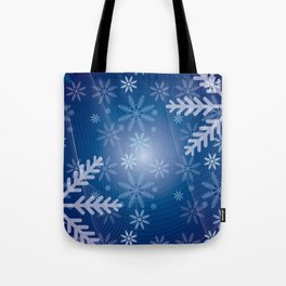 Blue Snowflakes Christmas Tote Bag