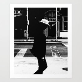 Black and white street photography in downtown Toronto city Art Print
