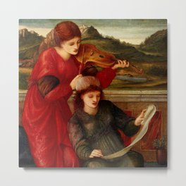 "Edward Burne-Jones ""Music"" Metal Print"