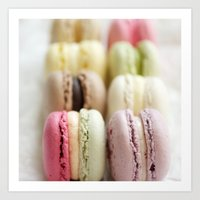 macaron Art Prints featuring macaron by Susigrafie