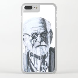 Melting Freud Clear iPhone Case