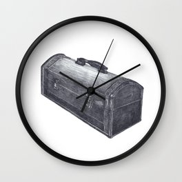 Old Wooden Box Wall Clock