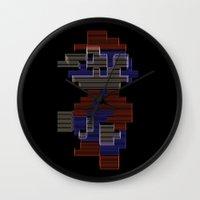 mario Wall Clocks featuring Mario by Anastase Kyriakos