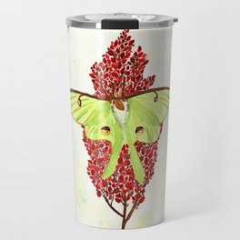 Luna Moth On Sumac Travel Mug