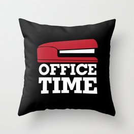 Office Time Throw Pillow