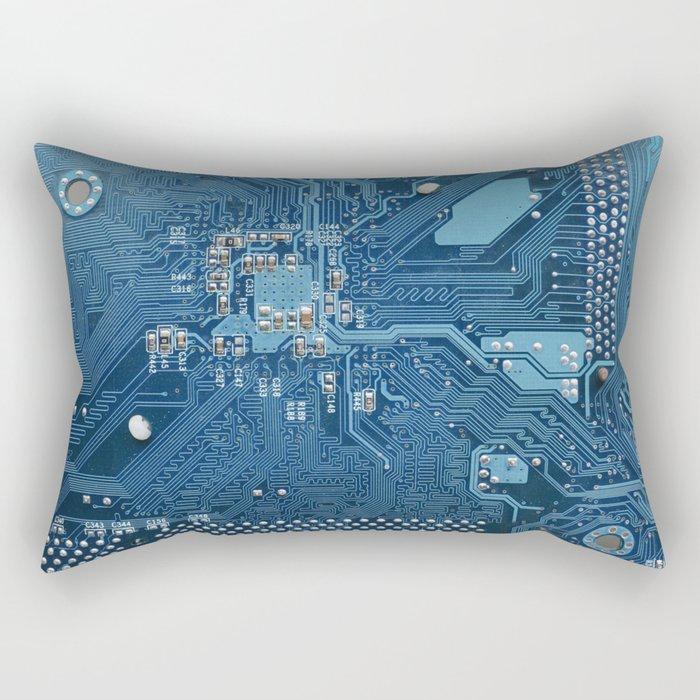 Electronic circuit board Rectangular Pillow