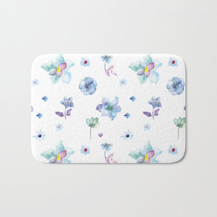 Delicate Floral Pattern 02 Bath Mat