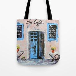 Le Cafe Tote Bag