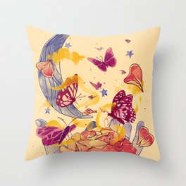 Papillon Ache Throw Pillow