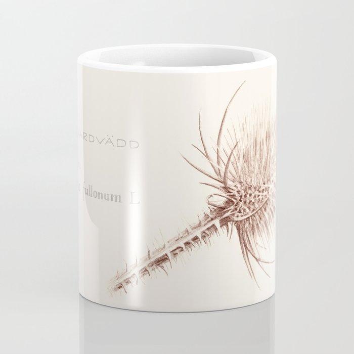 Wild Teasel botanical poster Coffee Mug