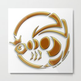 Queen Bee - The crest of Tracy Queen Metal Print