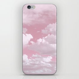 Clouds in a Pink Sky iPhone Skin