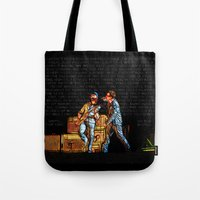 u2 Tote Bags featuring U2 / Bono / Edge / Until The End Of The World by JR van Kampen
