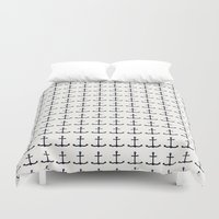 anchors Duvet Covers featuring anchors by Kirk and Wood
