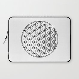 Flower of life in black, sacred geometry Laptop Sleeve