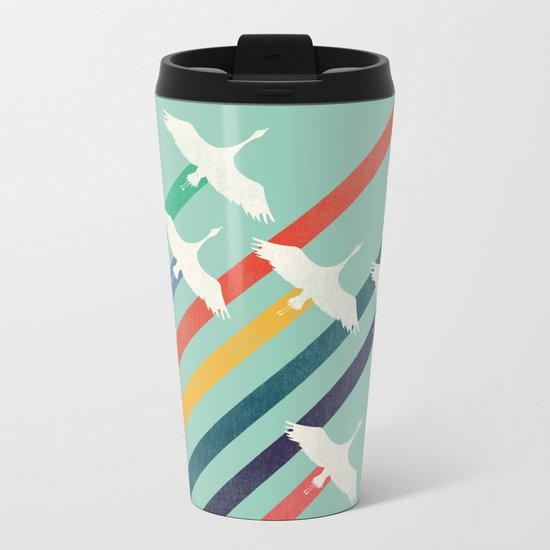 The Cranes Metal Travel Mug
