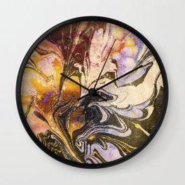 Marmorierung No. 2 Wall Clock