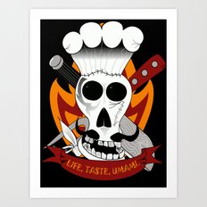 Chef For Life (Code Of Arms) Art Print