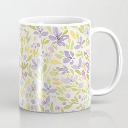 Floral watercolor purple pattern 6 Coffee Mug