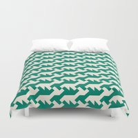 nintendo Duvet Covers featuring Nintendo .green by guapa.