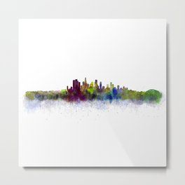 Los Angeles City Skyline HQ v3 Metal Print