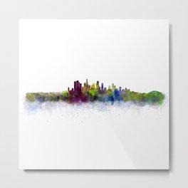 Los Angeles City Skyline HQ v3 Metal Print