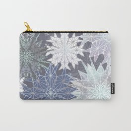 Layered Snowflakes Carry-All Pouch