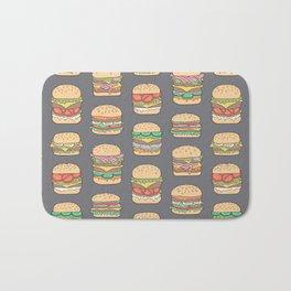 Hamburgers Junk Food Fast food on Dark Grey Bath Mat