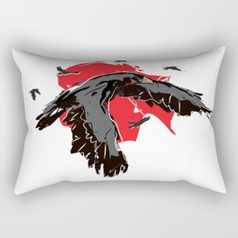 Flock of Ravens Rectangular Pillow