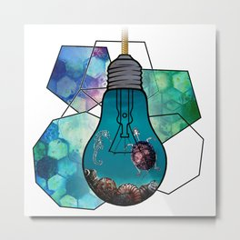 A light in the seabed Metal Print