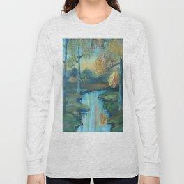 Autumn is Here, Original Contemporary Oil Painting, Original Modern Art, landscape, Luna Smith Long Sleeve T-shirt
